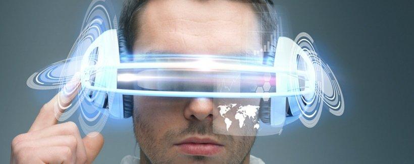 young man wearing a virtual reality headset