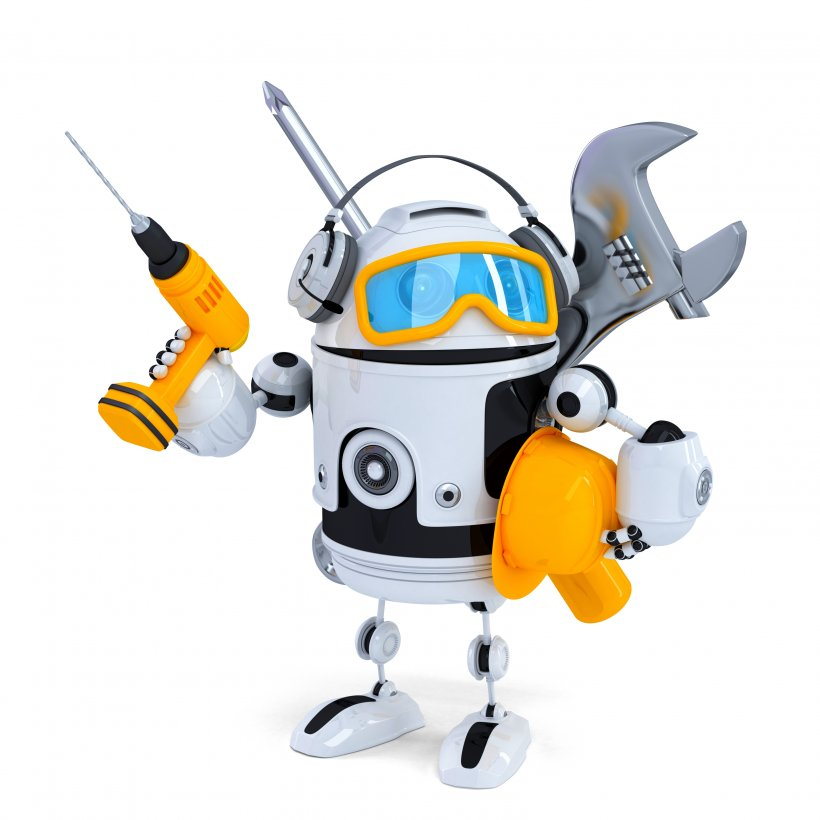 Robot holding tools